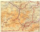 ARIEGE: Ax-Thermes: Andorre, Mont-Louis, Axat, 1951 map